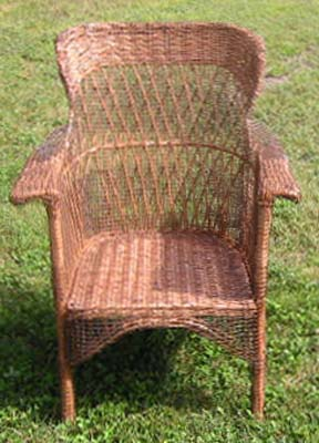 The Wicker Chair Is Completley Covered With Welded Wire, The Wicker Does  Not Require Any Special Treatment. The Mesh Is About 1.25 Cm (half Inch).